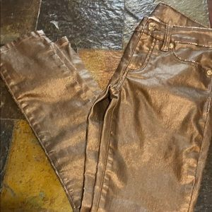 Denim - Stargate apparel girls gold jeans